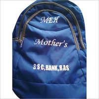 Blue Printed Coaching Backpack Bag