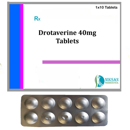 Drotaverine 40Mg Tablets