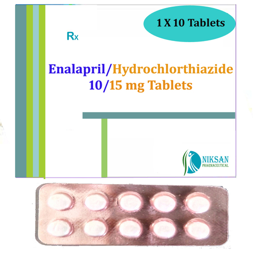 Enalapril Maleate 10 Mg Hydorchlorthiazide 15 Mg Tablets