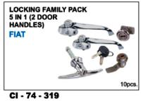 Locking Family Pack 5 In 1 (  2 Door Handles) Fiat