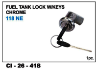 Fuel Tank Lock W/Keys Chrome 118 Ne & Black