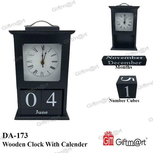 Wooden Clock With Calendar