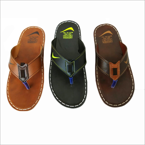 Mens PU Flat Slipper