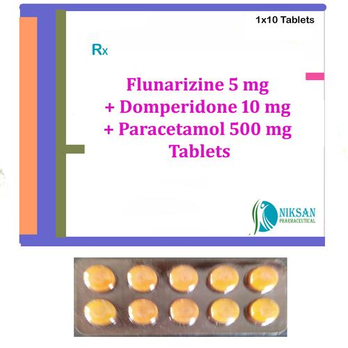 Flunarizine Domperidone Paracetamol Tablets