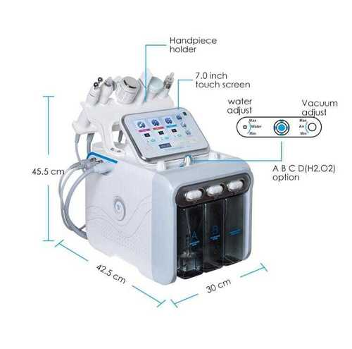 Hydra-facial H202 bubble machine