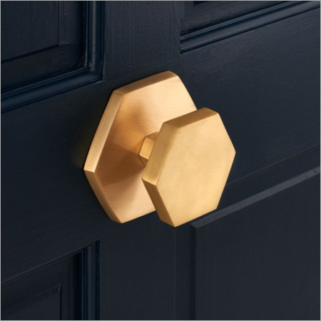 Hexagonal Brass Drawer Knob