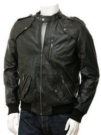 leather sports jacket