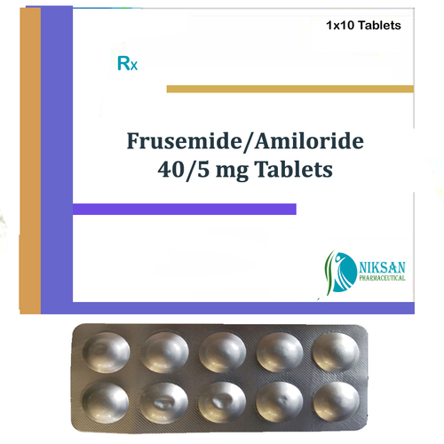 Frusemide 40 Mg Amiloride 5 Mg Tablets