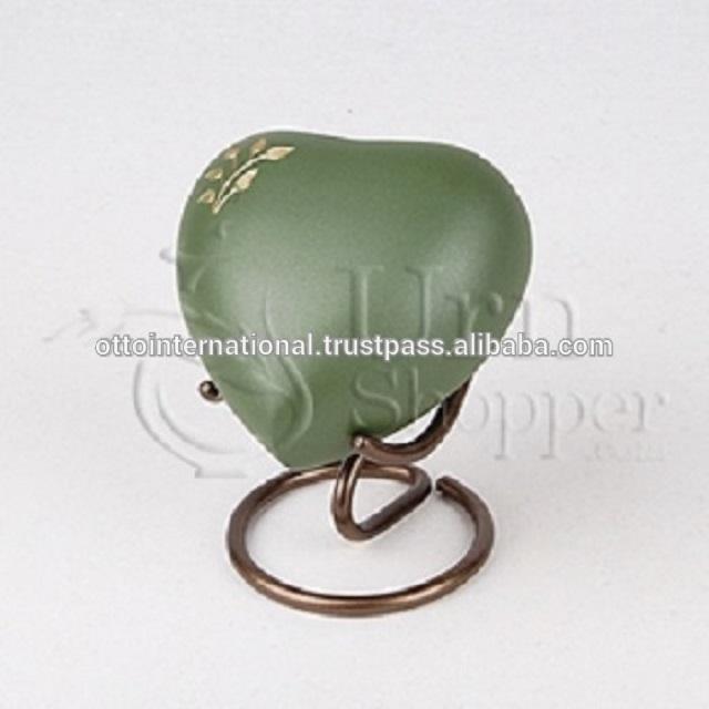 Lineas Rustic Sage Brass Token Cremation Urn