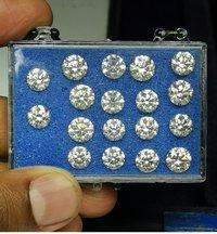 Cvd Diamond 3.00mm DEF VS SI Round Brilliant Cut Lab Grown HPHT Loose Stones TCW 1