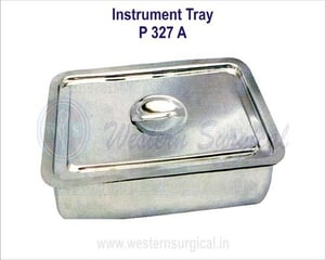 Instrument tray (with flat cover)