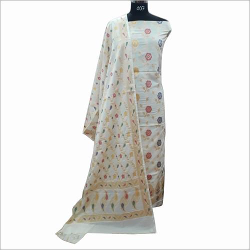 Banarasi Alfi Cotton Printed Suit Fabric