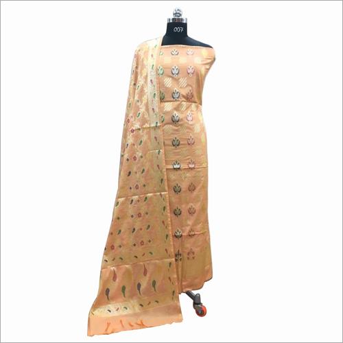 Banarasi Alfi Cotton Suit Fabric