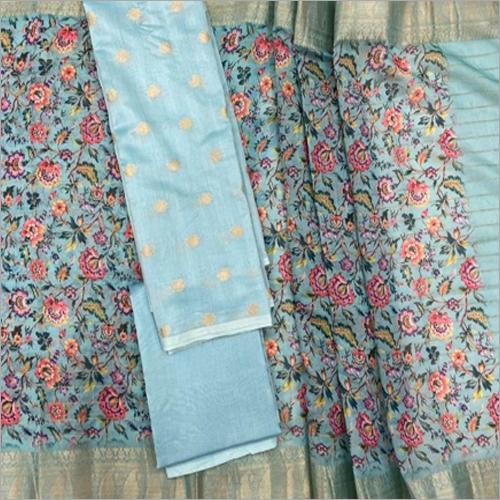 Banarasi Pure Chanderi Digital Printed Fabric