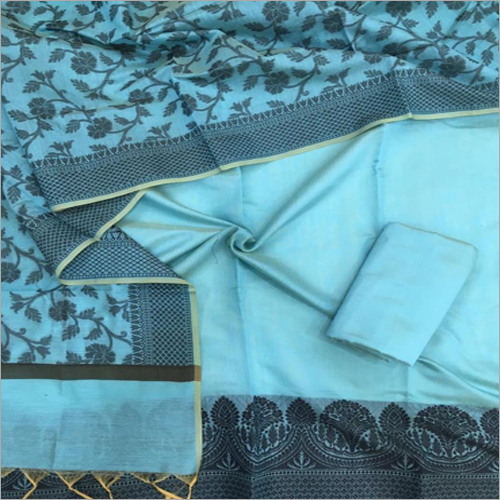 Pure Chanderi Digital Printed Suit Fabric