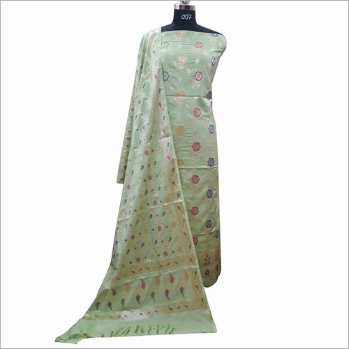 Designer Cotton Light Green Fabric