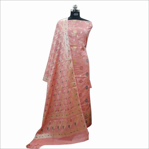 Designer Cotton Light Red Printed Fabric
