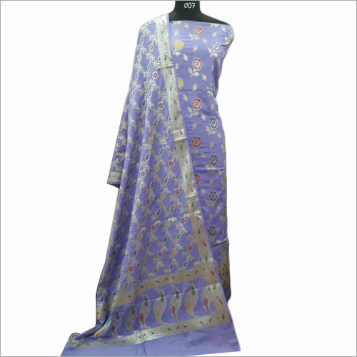 Designer Cotton Light Violet Suit Fabric