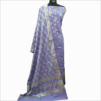 Designer Cotton Light Violet Suit Fabric