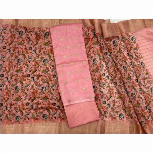 Pure Chanderi Silk Bottom Printed Fabric