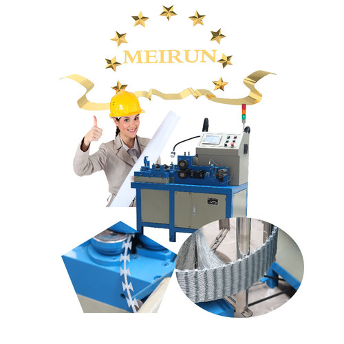 concertina razor barbed wire mesh making machine