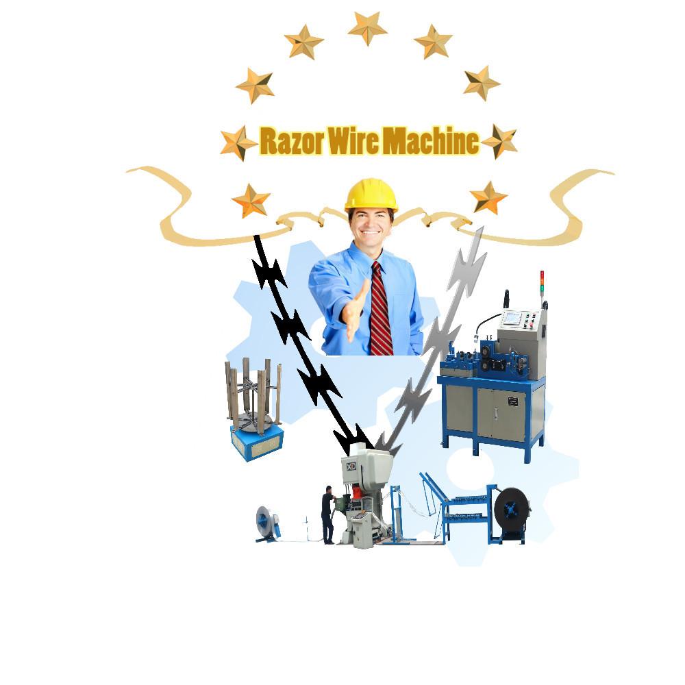 concertina razor barbed wire mesh making machine