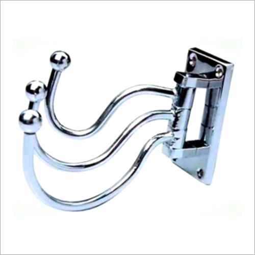 Folding Swing Arm Triple Coat Hook