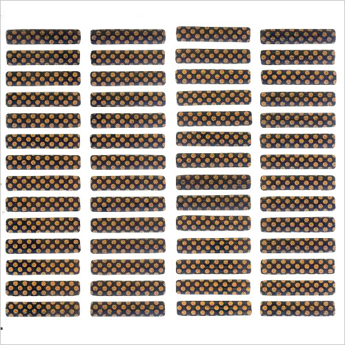 Rounded Corner Scratch Label in Sheets