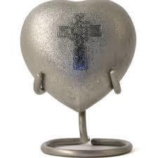Classic Platinum Engraved Brass Token Cremation Urn