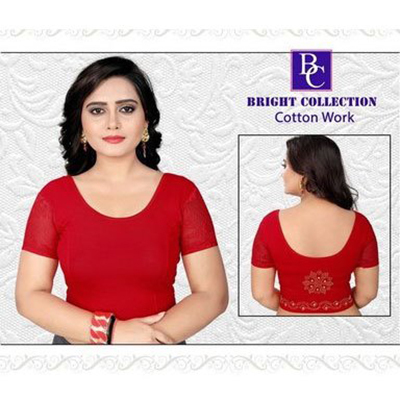 Cotton Work Stretchable Stylish Blouse