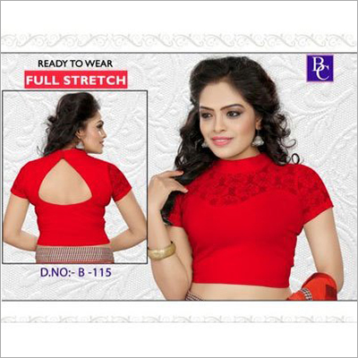 Ladies Half Sleeves Stretch Blouse