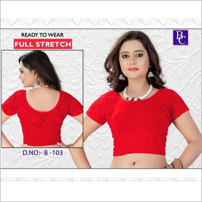 Half Sleeves  Stretchable Blouse
