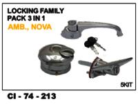 Locking Family Pack 3 In 1 Amb, Nova