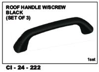 Roof Handle W/Screw Black (Set Of 3)