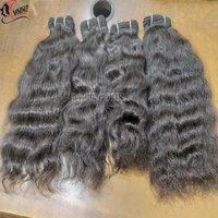 Remy Single Drawn Wavy Machine Weft Hair