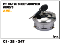 Pt Cap W/Sheet Adopter W/Keys Amb