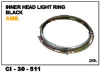 Inner Head Light Ring Black Amb