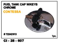 Fuel Tank Cap W/Keys Chrome Contessa