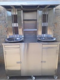 Shawarma Machine Doube Rod 4 Burners