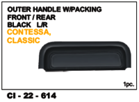 Outer Handle W/Packing Front/Rear Black  Classic L/R