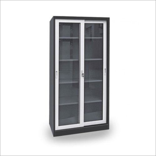Mild Steel Glass Door Cupboard