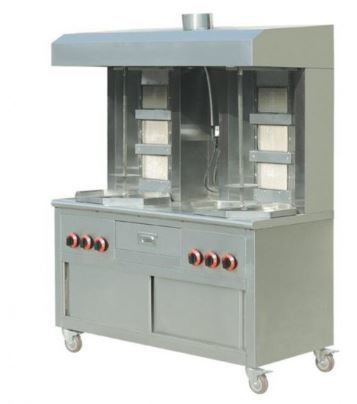 Shawarma Machine Double Rod Vaba Burner