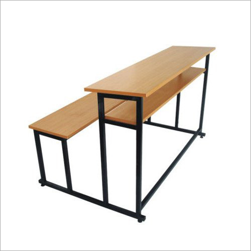 Mild Steel And Wooden School Bench