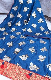 Silk Linen Pastel Shaded Sarees