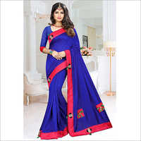 Vichitra Silk Fancy Border Buta Saree