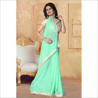Ladies Georgette Gota Moti Border