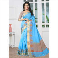 Printed Banarasi Silk Casual Saree