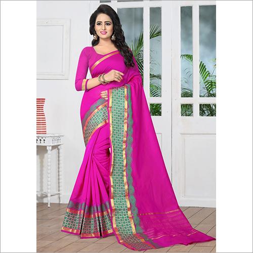 Banarasi Pink Silk Casual Saree