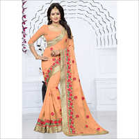 Festive Zari Work With Heavy Saree