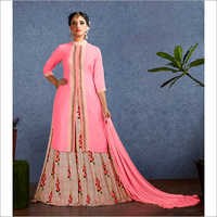 Modal Satin Lehenga With Long Short Kurti Suit